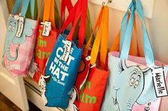 Dr Seuss tote bags