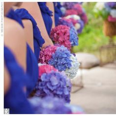 Vibrant Hydrangea Bouquets -- favourite flowers and beautiful colours!!