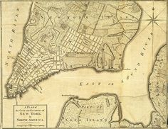 British map of Old New York, 1776