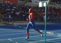 Spiderman corriendo 600 metros a 29 km/h