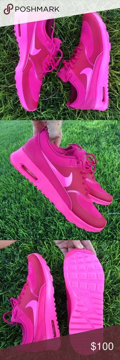 NWB NIKE AIR MAX THEAS SZ 8.5  NEW NEVER WORN SOLD WITH ORIGINAL BOX  TRIPLE PINK!  The sleekest of all the air max silhouettes. In the absolute hottest color. Ships same or next day. Bundle items to save.  Nike Shoes Athletic Shoes