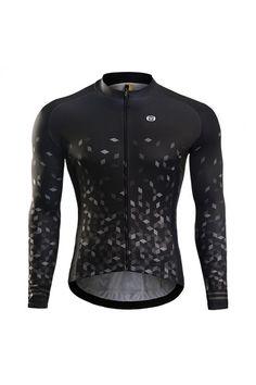 Black long sleeve cycling jersey sale