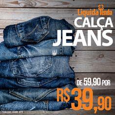 💙 👖 💙 Esta semana começou bem, com uma super promoção  de calças jeans, indispensáveis na vida da gente! #LiquidaTendaVerão2017  Curta, compartilhe, marque os amigos e deixe seu comentário aqui sobre o jeans, essa paixão de todo mundo.