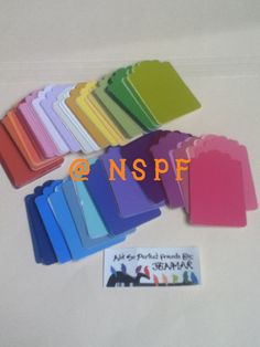 Paint Chips tags for crafting. Made by: NotSoPerfectFriends By: JenMar  www.flickr.com/photos/nspf