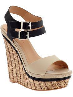 $64 piperlime high heel wedge sandals