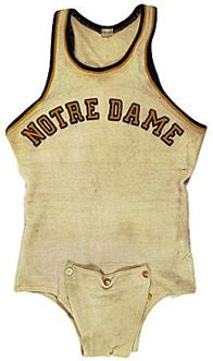 Nope, it's not baby clothing, the Basketball jerseys of the 30s fastened under the crotch to keep from coming untucked.