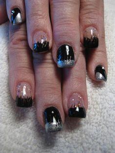 harley davidson nails | Tie-dye Harley Davidson Nail Art More