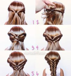 Doll Hairstyle: Topsy Turvy Faux Fishtail Braid!