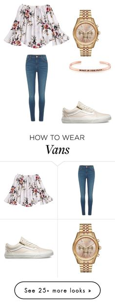 Math meeting by sarahfohlen on Polyvore featuring Vans, Michael Kors, MantraBand, River Island, Spring and 2k17