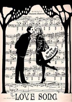 Музыка любви - анимационные картинки и gif открытки