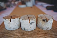 10 Birch Bark Place Card Holders for Weddings by FloralAccents
