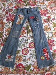 Miss Me Vintage Hippie Patch Jeans Super retro!