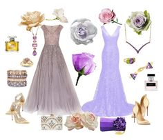 """""""Rose Garden"""" by winscotthk ❤ liked on Polyvore featuring Georges Hobeika, René Caovilla, Christian Louboutin, KOTUR, Shiraleah, Bloomingdale's, Lord & Taylor, Phillips House, Verdura and Ralph Lauren"""
