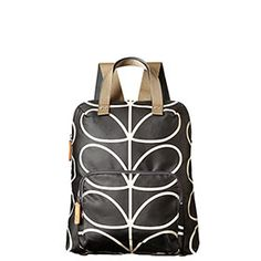 Giant Linear Stem Backpack Tote Liquorice