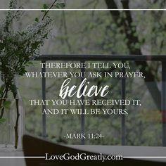 Living for God: Pray in Faith
