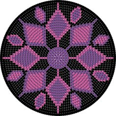 crochet placemat or maybe wall art Boho Tapestry, Tapestry Bag, Peyote Beading Patterns, Loom Beading, Crochet Chart, Crochet Stitches, Mochila Crochet, Tapestry Crochet Patterns, Crochet Round
