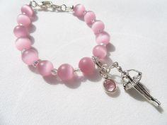 Pink Bracelet Ballerina Pink Swarovski Crystal by RitzyandGlitzy, $14.00
