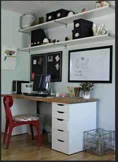 ikea home office 2 fois le long du mur avec fenêtre