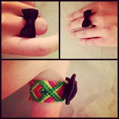 friendship bracelet ring with bow tie #dapper #accessories #ontrend #bowtie