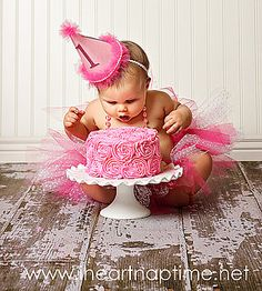 I'm pinning this because I'm in love with the floor and cake stand. I have no plans of putting Parker in a pink tutu.