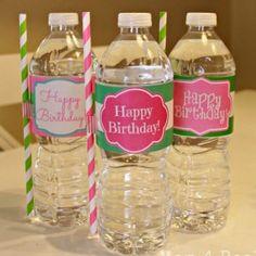 Free Printable Happy Birthday Water Bottle Label Wraps