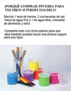 Pintura hecha en casa Diy For Kids, Crafts For Kids, Party Deco, Kids And Parenting, Luhan, Ideas Para, Activities For Kids, Diy And Crafts, Baby Kids