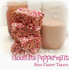Chocolate Peppermint Rice Crispy Treats from The TipToe Fairy