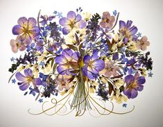 stunning blues and purples - dried art