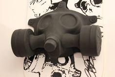 The gas mask skateboard.
