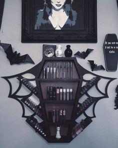 Dark Home Decor, Goth Home Decor, Casa Halloween, Halloween Home Decor, Gothic Room, Gothic House, Goth Bedroom, Bedroom Decor, Horror Room