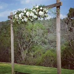 #rustic #weddingarch all setup and waiting for the bride to arrive  by ceremoniesido