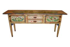 1980s Hand-Painted Sideboard - One Kings Lane - Vintage & Market Finds - Furniture