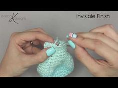 Crochet Invisible Finish by Briana K Designs. When it is time to finish your crochet piece in the round use an invisible finish. This way of finishing creates a mock stitch which helps hide the seam and gives a smooth look to the end of your work. For more videos please subscribe to my YouTube Channel.