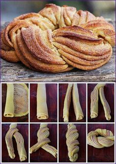 Just made this beauty for my birthday brunch! Just as delicious as it is pretty! - Just made this beauty for my birthday brunch! Just as delicious as it is pretty! Baking Recipes, Dessert Recipes, Baking Ideas, Bread Shaping, Birthday Brunch, Snacks Für Party, Bread And Pastries, Sweet Bread, Creative Food