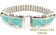 Four Corners USA Online - Women's Kingman Turquoise Inlay Sterling Watch Tips http://stores.fourcornersusaonline.com/womens-kingman-turquoise-inlay-sterling-watch-tips-1-native-american-jewelry-steve-francisco/
