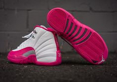 sports shoes 2fbbc 393d8 Air Jordan 12 Valentines Day White Pink Women