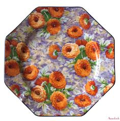 Hey, I found this really awesome Etsy listing at https://www.etsy.com/listing/206096239/crown-ducal-marigold-chintz-with-black