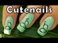 How to do buterfly design on nails with one stroke technic. Easy nail art to do at home ! Suitable for beginners     If you like my nail art designs, feel free to click Like button! :)   Comment, share if you like this tutorial !   Subscribe to my channel to watch more nail art tutorials  www.youtube.com/....