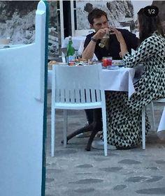 Jamie and Millie in Praiano, Italy - August 2018 Fifty Shades Movie, Fifty Shades Darker, Fifty Shades Of Grey, Amelia Warner Jamie Dornan, Jaime Dornan, Wattpad, Jamie Fraser, New Pictures, Etsy