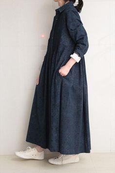 Abaya Fashion, Modest Fashion, Fashion Dresses, Look Fashion, Korean Fashion, Fashion Design, Moda Natural, Moslem Fashion, Teen Girl Fashion