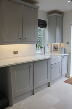 Utility Room Transformation - Just a Little Build - Finance - Credit cards Boot Room Utility, Small Utility Room, Utility Room Storage, Utility Room Designs, Utility Room Ideas, Modern Laundry Rooms, Laundry Room Layouts, Laundry Room Design, Grey Kitchen Designs