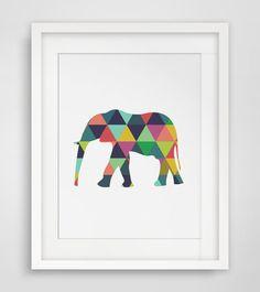 Elephant Print Elephant Art Elephant Wall by MelindaWoodDesigns, $5.00...Yes please!