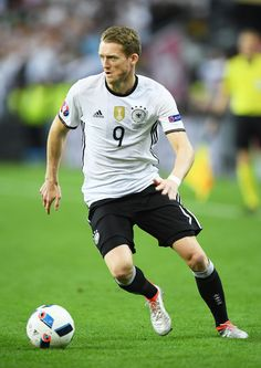 Andre Schuerrle of Germany in action during the UEFA EURO 2016 Group C match between Germany and Poland at Stade de France on June 16, 2016 in Paris, France.