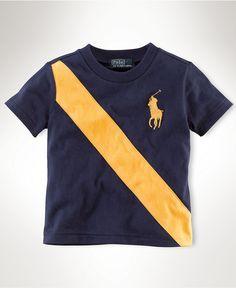 Ralph Lauren Baby T-Shirt, Baby Boys Banner Tee - Kids Baby Boy - Macy's