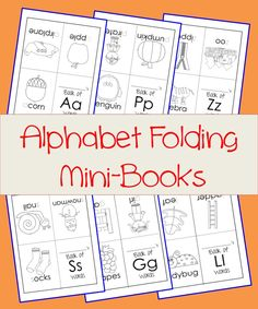 Alphabet Mini-Books! Great for letter recognition and encouraging 'reading'! Perfect for Pre-K or Kindergarten students.