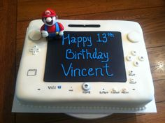 Super Mario and Nintendo WII U cake done by Bunnycakes 10/2014.