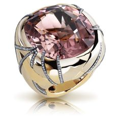 Faberge jewelry. The center stone is probably morganite.