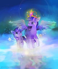 When Princess Twilight meet little Twilight by blackywolfer on DeviantArt My Little Pony 1, My Little Pony Friendship, Cartoon Shows, A Cartoon, Princess Twilight Sparkle, Princess Luna, Mlp Cutie Marks, My Little Pony Collection, Baby Pony