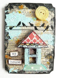 "That Craft Place Challenge Blog: ""VonPappe Wednesday"" -  ATC - tutorial for this  on their website."