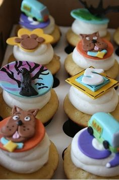 Scooby Doo Cupcakes |  #cupcakes #Scooby